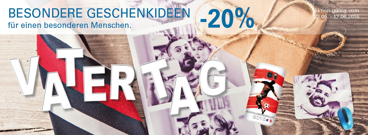 20% auf ausgewählte Geschenkideen Vatertag