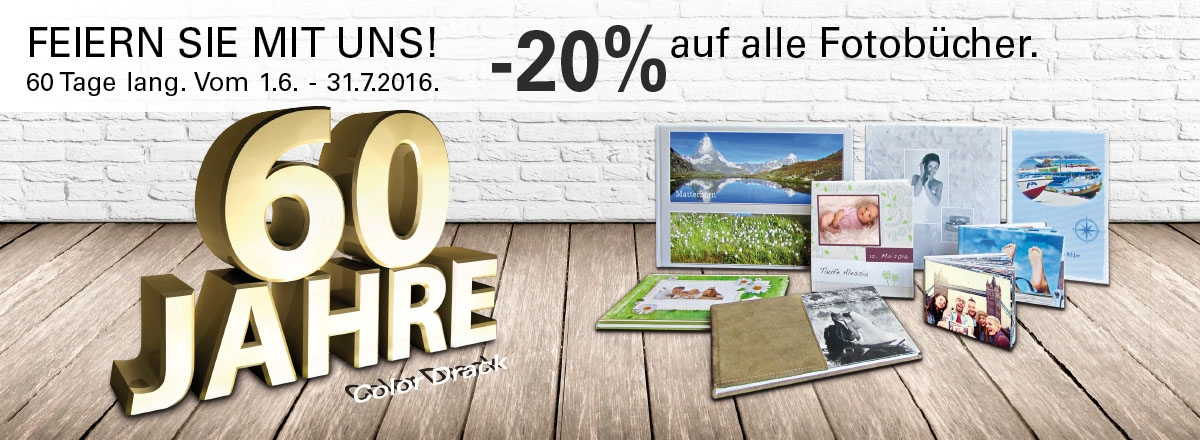 Jubiläums Aktion - 20% auf Fotobücher