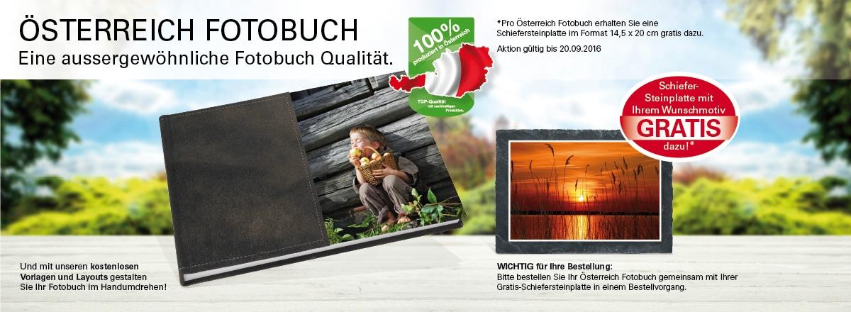 Österreich Fotobuch + Schiefersteinplatte Gratis
