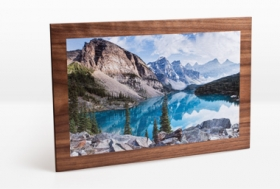 Holzbild mit Fotodruck