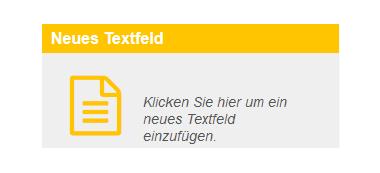 Online-Editor - Textfeld einfügen