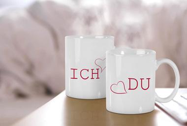 Ideal für den Valentinstag - Fototasse mit Wunschmotiv